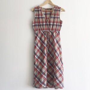 Eddie Bauer Sleeveless Tie Waist Dress Size 2